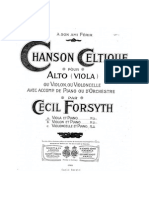 Forsyth Chanson Celtique for Viola and Piano