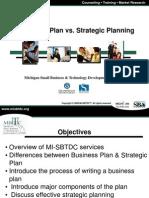 Business Plan vs Strategic Planning