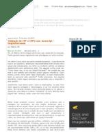 Estação ZN_ Validação de CPF e CNPJ Com Javascript - Delphi_Intraweb