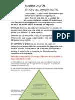 SONIDO DIGITAL INFORMATICA