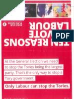 Scottish Labour leaflet