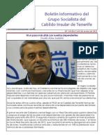 Boletín del Grupo Socialista del Cabildo de Tenerife 116. 2 - 8 de marzo 2015