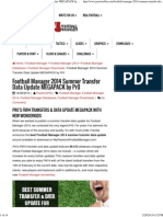 FM Transfer Data Base Summer