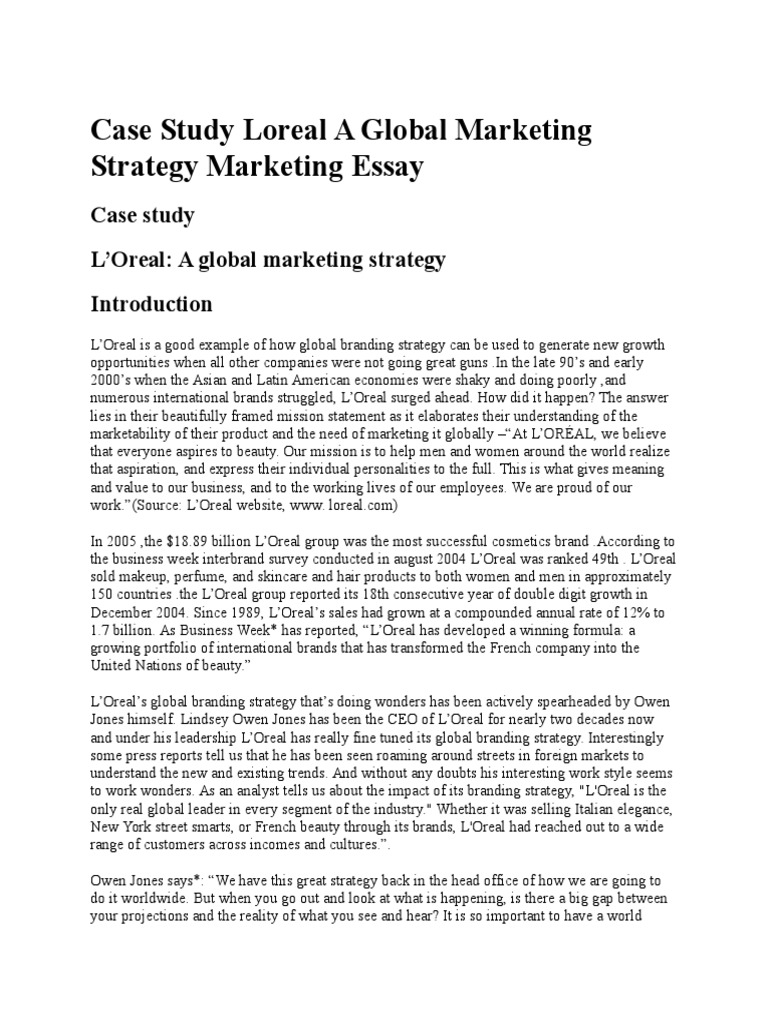International marketing plan essay