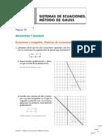 01.-Sistemas de Ecuaciones. Método de Gauss CCNN