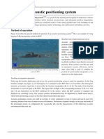 Underwater Acoustic Positioning System