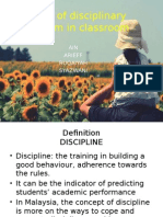 Types of Disciplinary Problem in Classroom