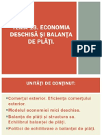 Tema 13. Economia Deschisa Și Balanța de Plăți