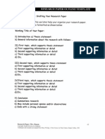 Research Outline Sheets
