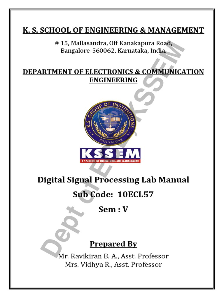 dsp lab manual 10ecl57 vtu syllabus digital signal processor rh scribd com MSJC Communication Lab My Communication Lab