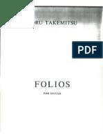 Takemitsu - Folios