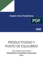Clase 3.0 Productividad y Punto de Equilibrio.pdf