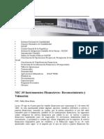 NIC 39 Instrumentos Financieros Pe