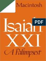 Isaiah XXI, A Palimpset