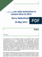 Petroleum Coke - Economics in Cement Kilns
