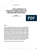 A Systematic Approach to Strategy Formulation for Medium Sized Shipyards