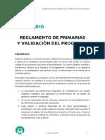 Reglamento de primarias de Ahora Madrid (PDF)