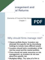 Risk Managment & Financial Returns