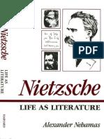 Nehamas Nietzsche Life as Literature
