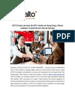 JETCO lanza servicios de NFC móviles en Hong Kong y Macao mediante Trusted Service Hub de Gemalto