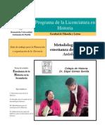 Modulo I Metodología Para La Enseñanza de La Historia Antología 2010