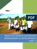 Basics of Church Leadership Management Part 2