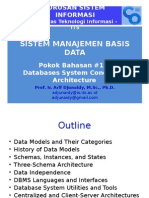 Pokok Bahasan #1-2 Review DB Architecture