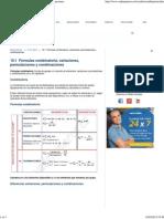 Combinatoria, Variaciones, Permutaciones y Combinaciones