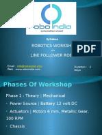 Line Follower Workshop Syllabus