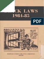 Black Laws 1984-85