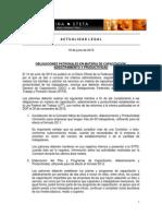 Actualidad Legal-Obligaciones Patronales en Materia de Capacitacion Adiestramiento y Productividad