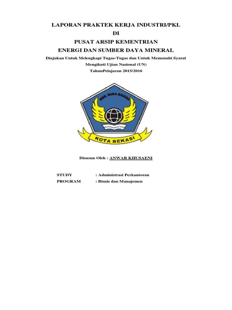 Contoh Laporan Magang Smk Administrasi Perkantoran Kumpulan Contoh Laporan