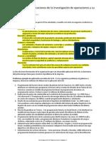 1.3 Principales Aplicaciones de La Investigación de Operaciones y Su Aplicación Práctica