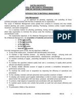 Materials Management - Class Notes