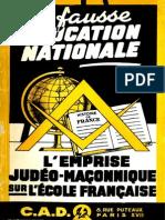 Bertrand Jean - Wacogne Claude - La Fausse Education Nationale
