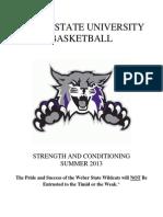 College Basketball (WSU) Strength & Conditioning Program