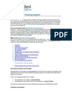 The SSCA SIP Training Program Course Outline
