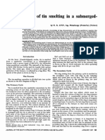 The Metallurgy of Tin Smelting in a SAF