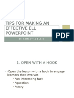 tips for making an effective ell powerpoint- samantha blair