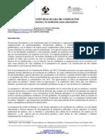 Resolucion de conflictos por Universidad de Concepción