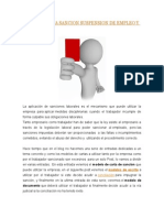 Modelo Carta Sancion Suspension de Empleo y Sueldo