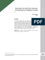Integralidad y Politicas Sociales Repetto