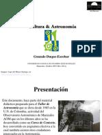 Cultura y astronomía