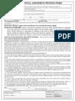 Florida Constitutional Amendment Petition Form
