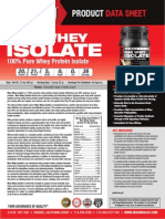 Best Whey Isolate Protein Powder by Max Muscle Sports Nutrition 2015