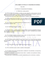 Normas Del Código Civil Sobre Tutelas y Curadurías en General