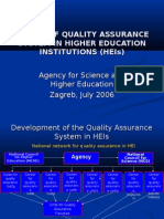 Audits of Quality Assurance System in Higher