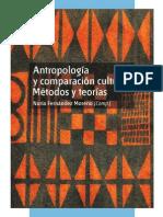 Antropología y comparación cultural métodos y teorías