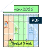 3 March Calendar