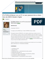 Obtener Con Un PC El User Password de Un Disco Duro de XBOX Western Digital [TUTORIAL]